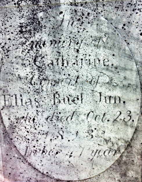 Headstone of Catherine Buel, Huntington