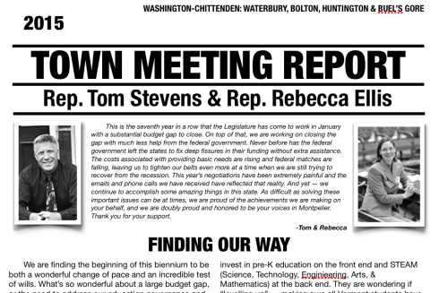 2015 Town Meeting Report