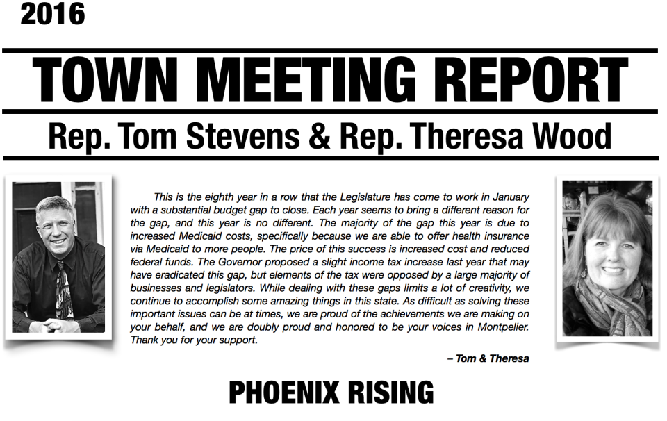 Town Meeting Report 2016