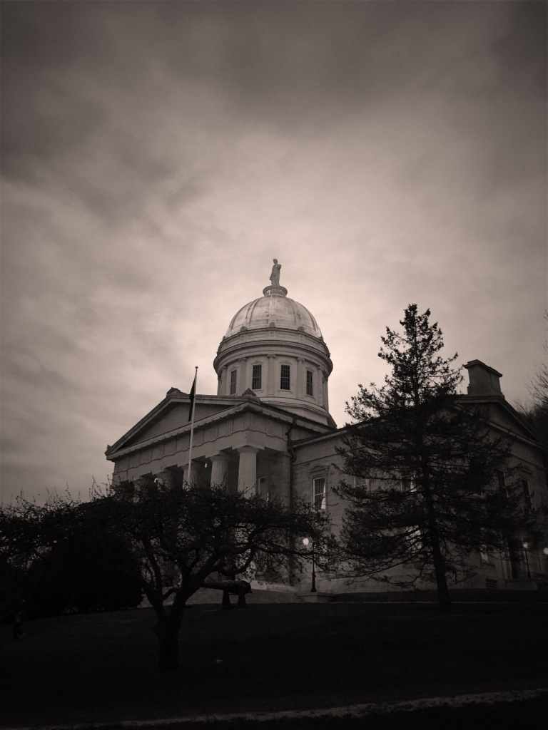State House in the Gloaming